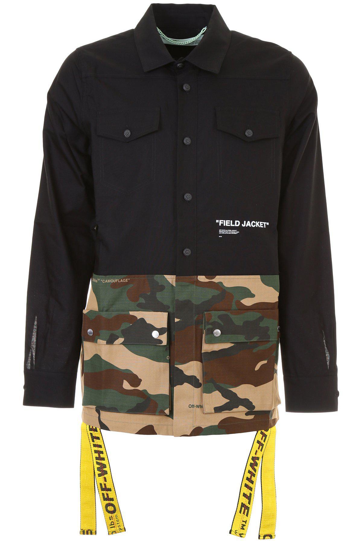 591b05166df4f Off-White c/o Virgil Abloh Camouflage Shirt Jacket in Black for Men ...