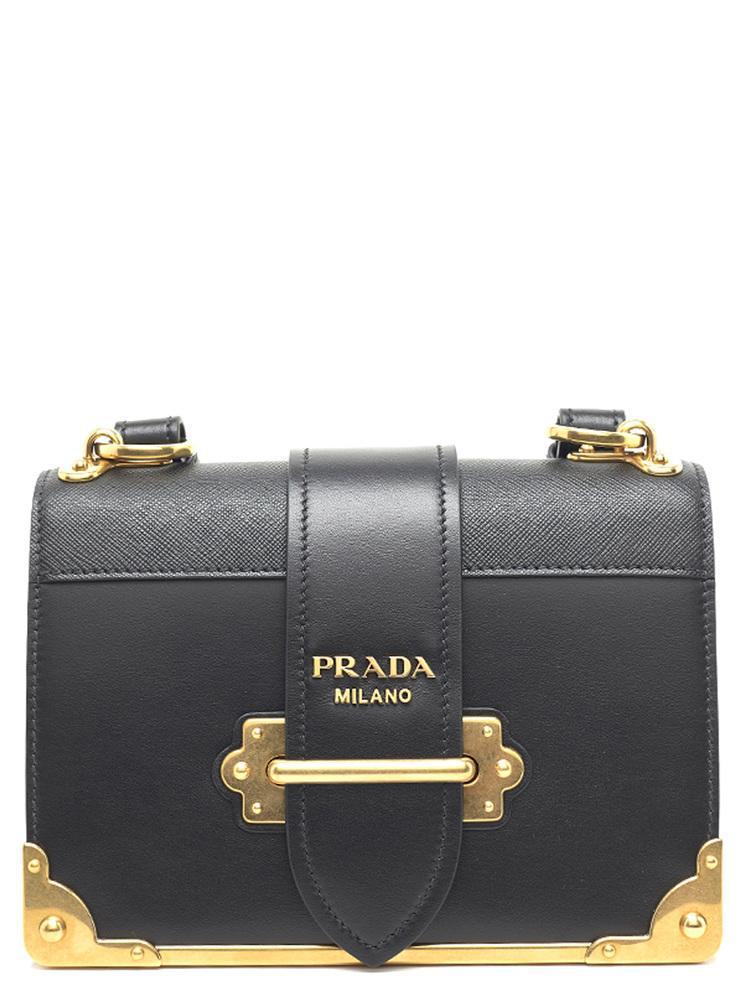 Prada Cahier Chest Shoulder Bag in Black - Save 7.599807599807605 ... 7e05b964a7901
