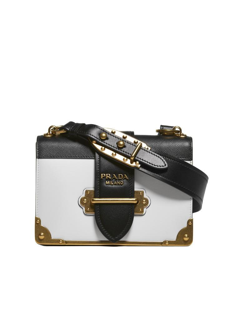 0900665e2c63 Prada Cahier Chest Shoulder Bag in Black - Lyst