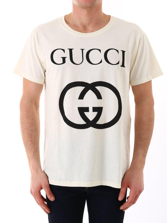 8ee1181f5cd5 ... Oversize T-shirt With Interlocking G for Men - Lyst. View fullscreen