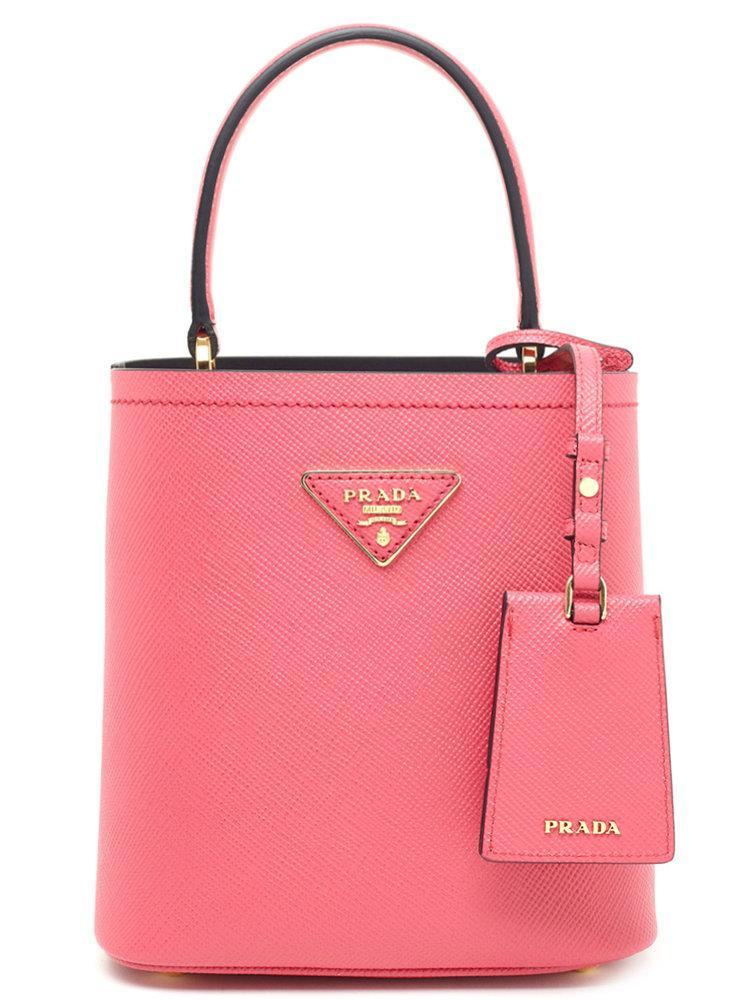 0e48986f1847 Prada Double Bucket Bag in Pink - Lyst
