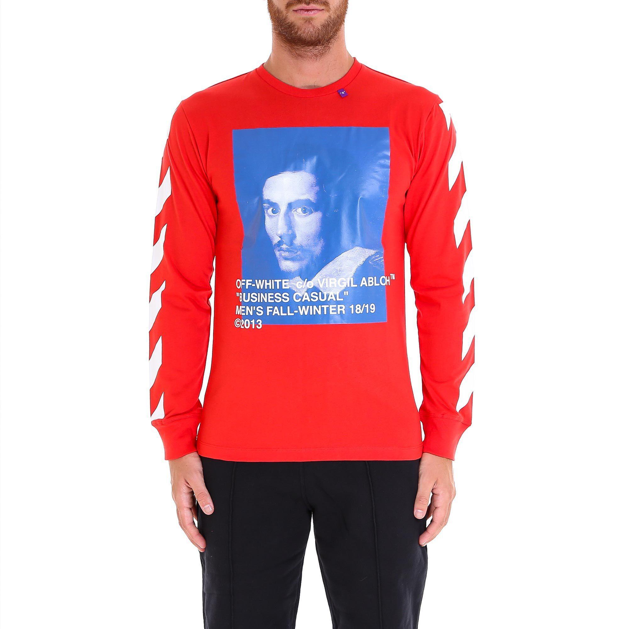 517ad5e7 Off-White C/O Virgil Abloh Bernini Print Sweatshirt in Red for Men ...