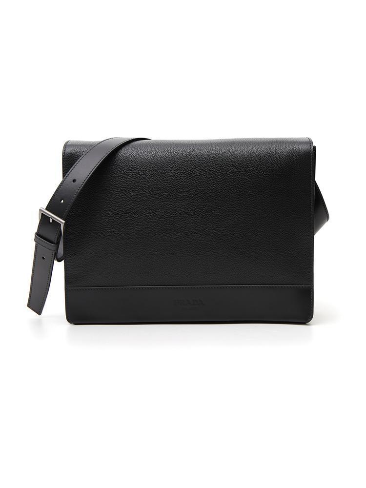 0ec3a90b3efc Prada Leather Messenger Bag in Black for Men - Lyst