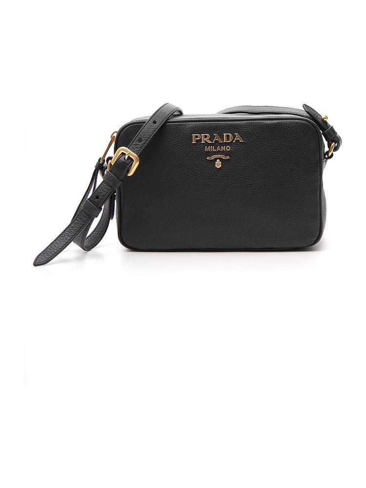 Lyst - Prada Logo Camera Bag in Black 9dd6206c5490c