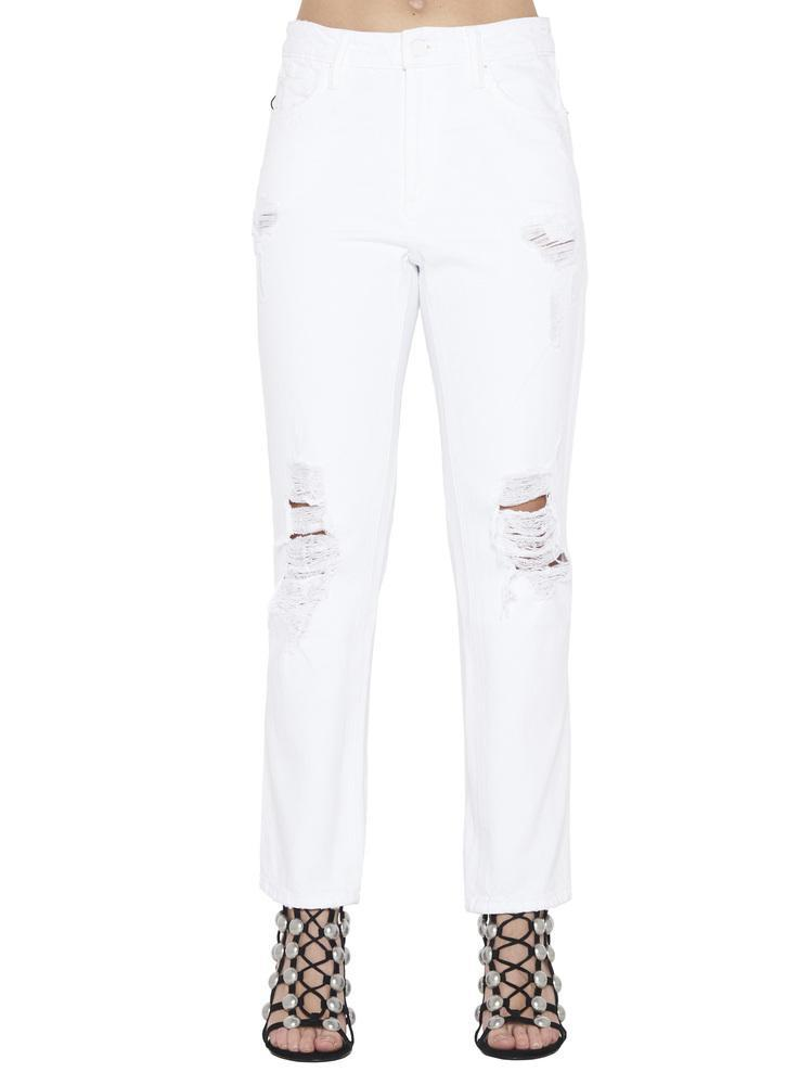 a481d2a8aa4c Lyst - T By Alexander Wang Cropped Cult Jeans in White