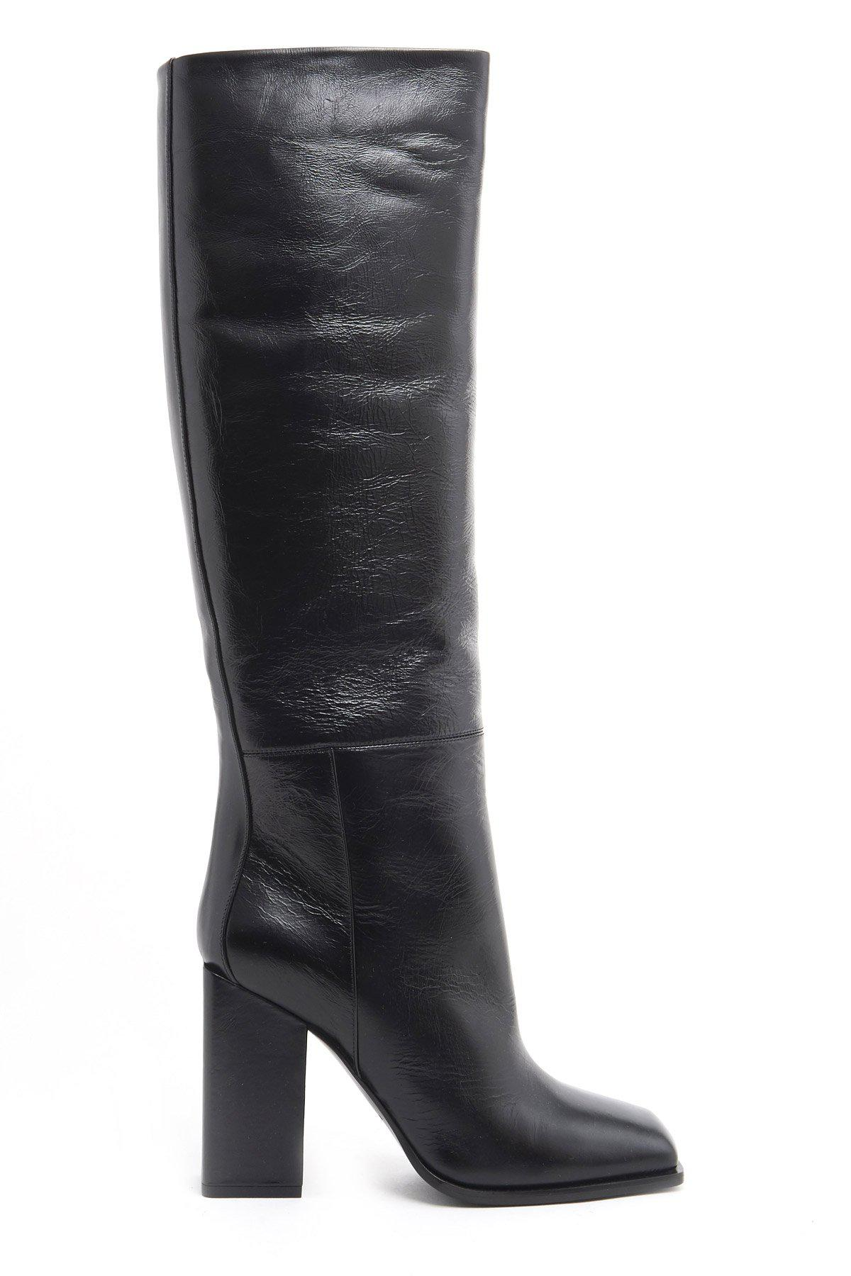 76aa9a9ac34 Lyst - Saint Laurent Jodie Heeled Boots in Black