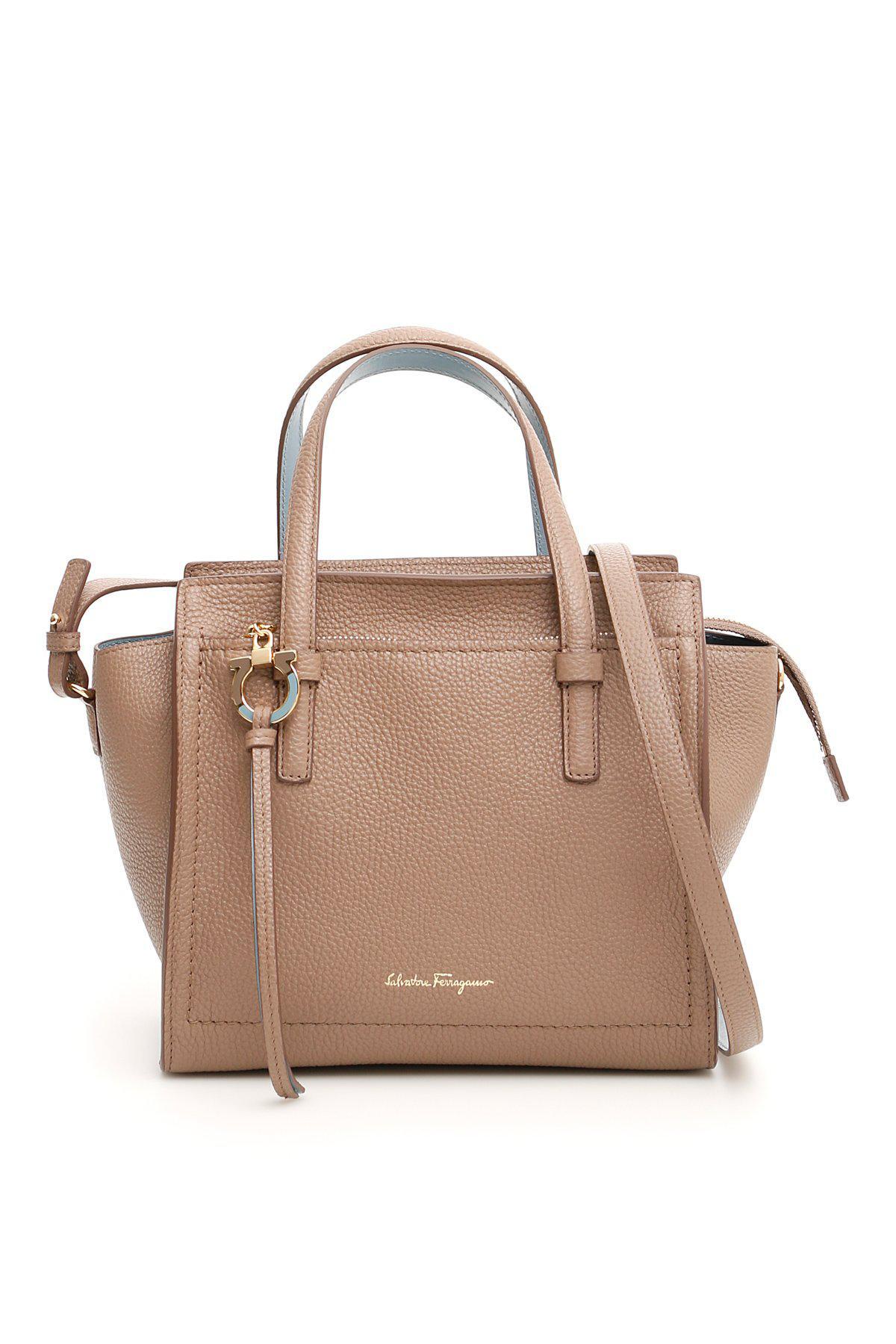 c20db6ae262a Ferragamo Amy Tote Bag in Brown - Lyst