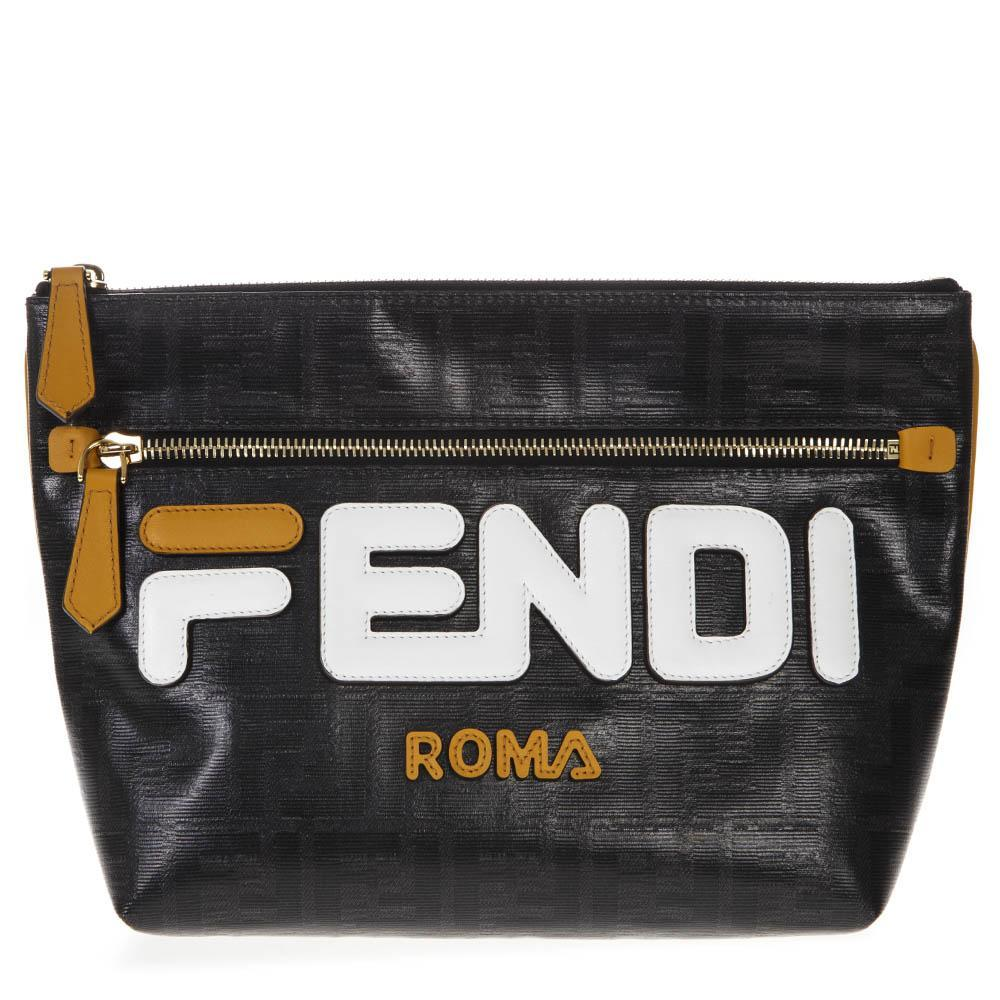 e9c97308ec Fendi Ff Logo Pouch in Black for Men - Lyst