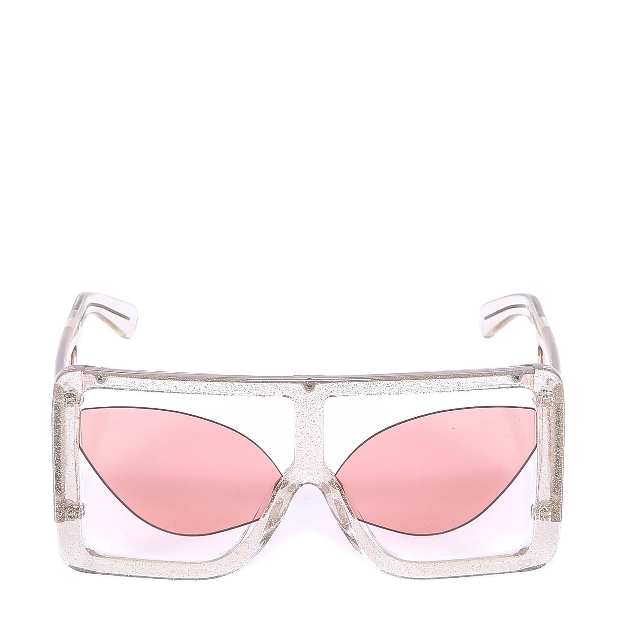 70f9272eeaa Gcds Oversized Frame Sunglasses in Pink - Lyst