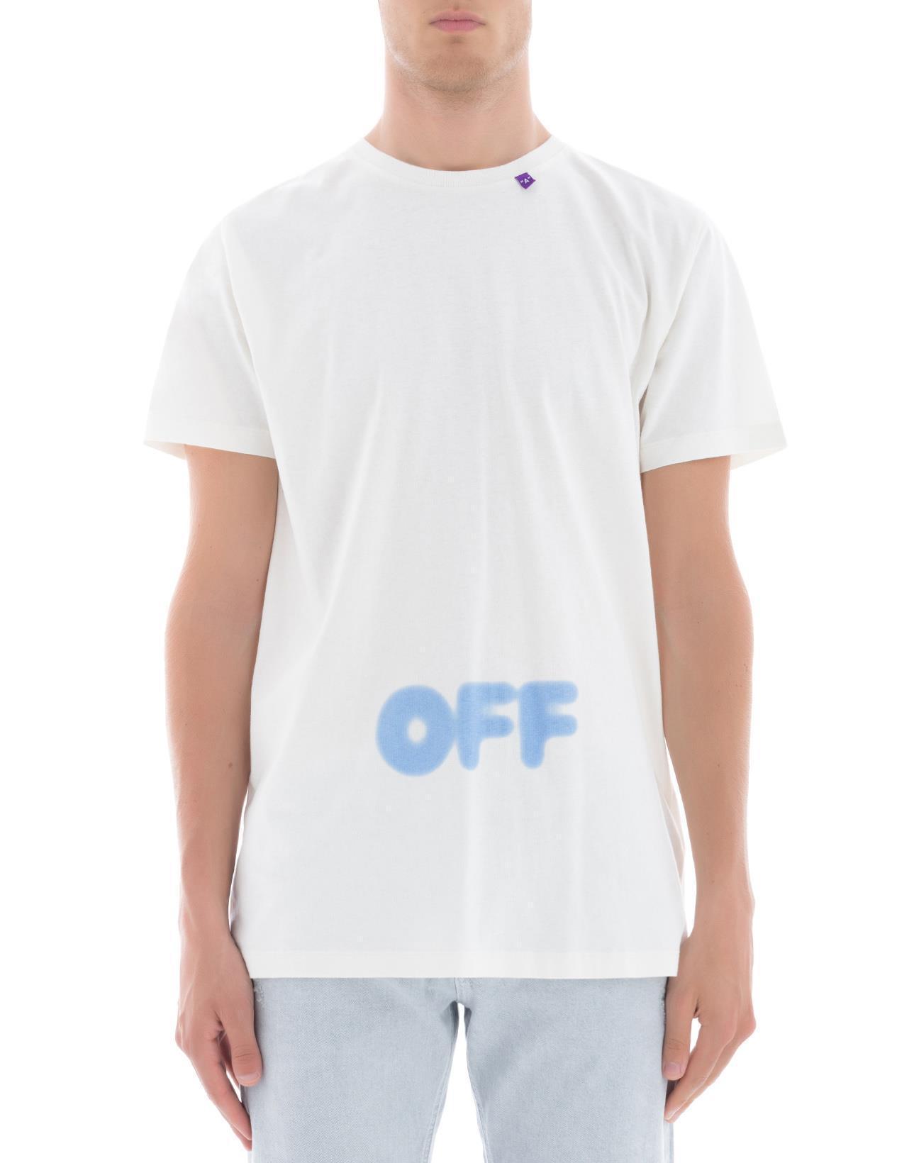 b46db6887f39 Off-White C O Virgil Abloh Printed T-shirt in White for Men - Lyst