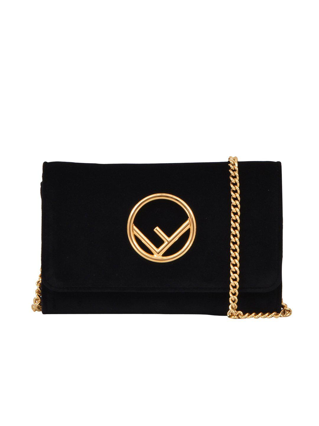 fa7d2bcaea Fendi Clutch Chain Bag in Black - Lyst