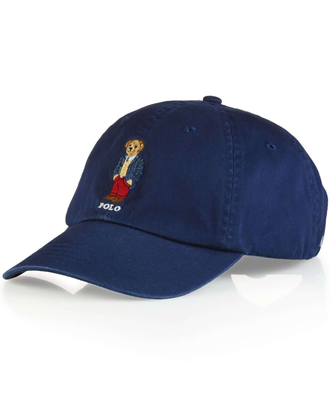 polo ralph lauren polo bear chino baseball cap preppy polo bear in blue for men lyst. Black Bedroom Furniture Sets. Home Design Ideas
