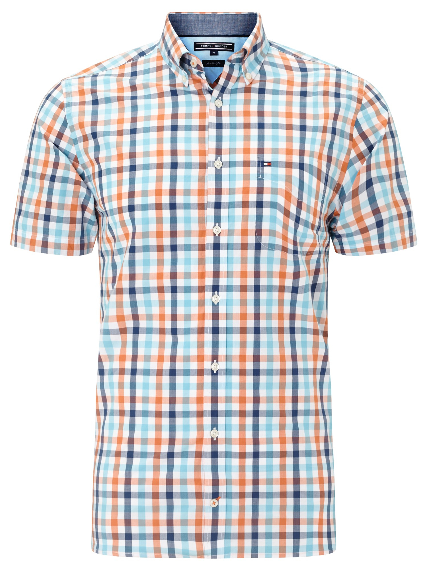 8e2aed55 Tommy Hilfiger Eddy Short Sleeve Check Shirt in Blue for Men - Lyst
