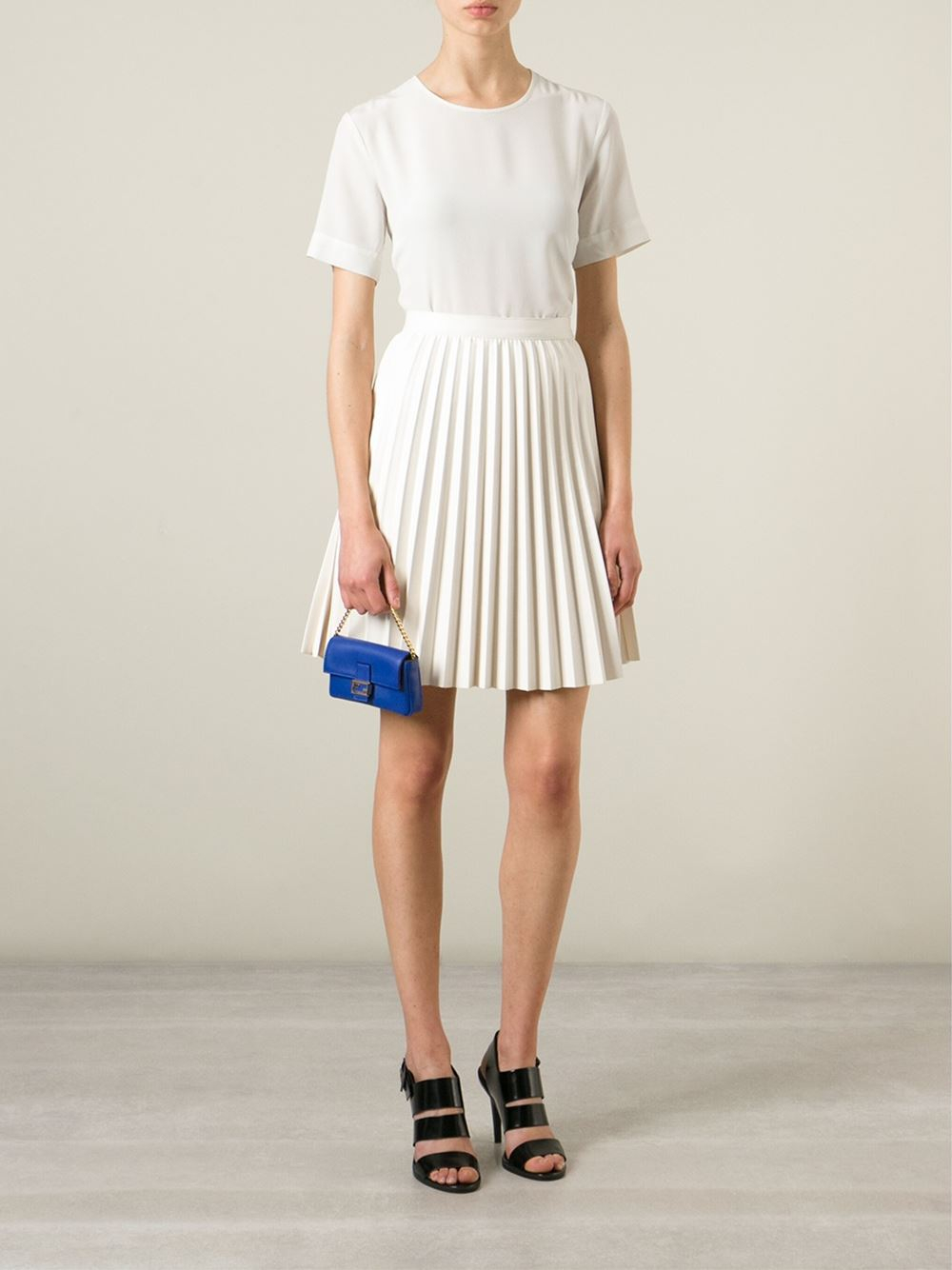 wholesale fendi mini baguette shoulder bag 3ae9f 9c18e  promo code for lyst  fendi micro baguette shoulder bag in blue 02c64 b6484 ac07802fdd2a5