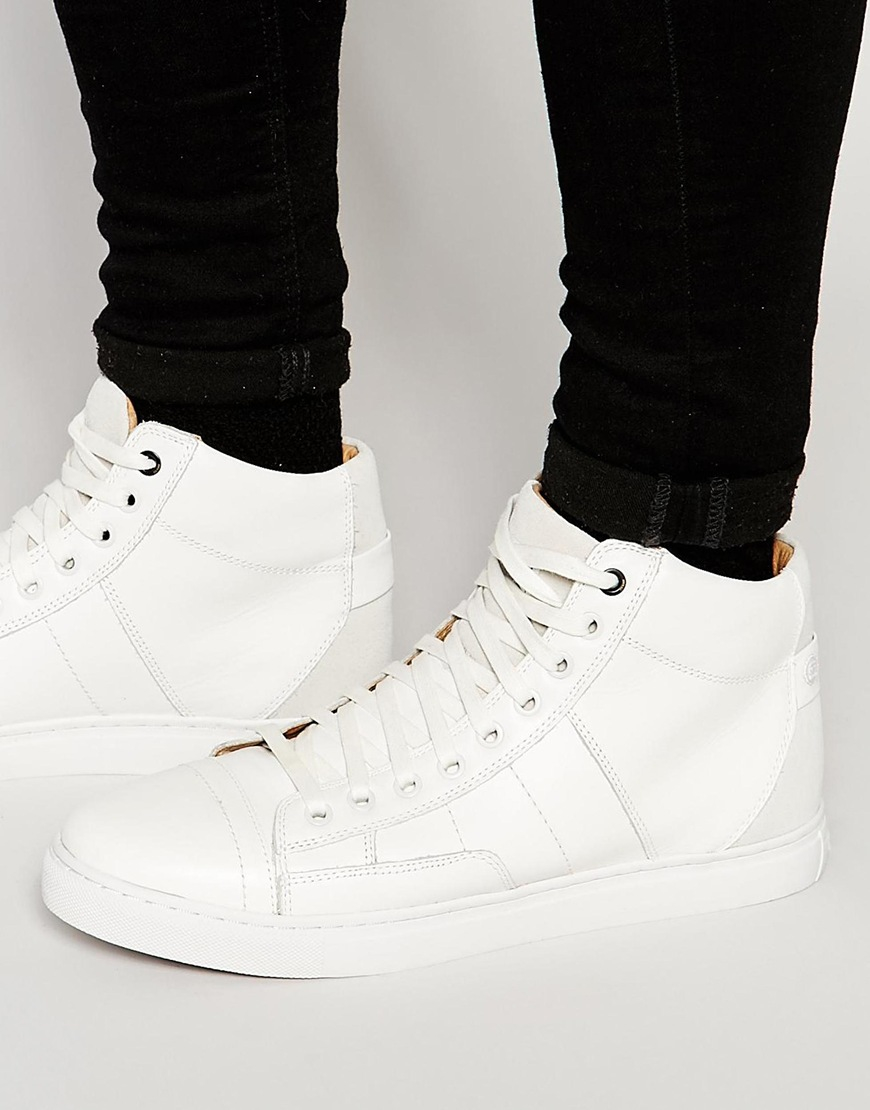 g star raw stanton mono hi top sneakers in brown lyst. Black Bedroom Furniture Sets. Home Design Ideas