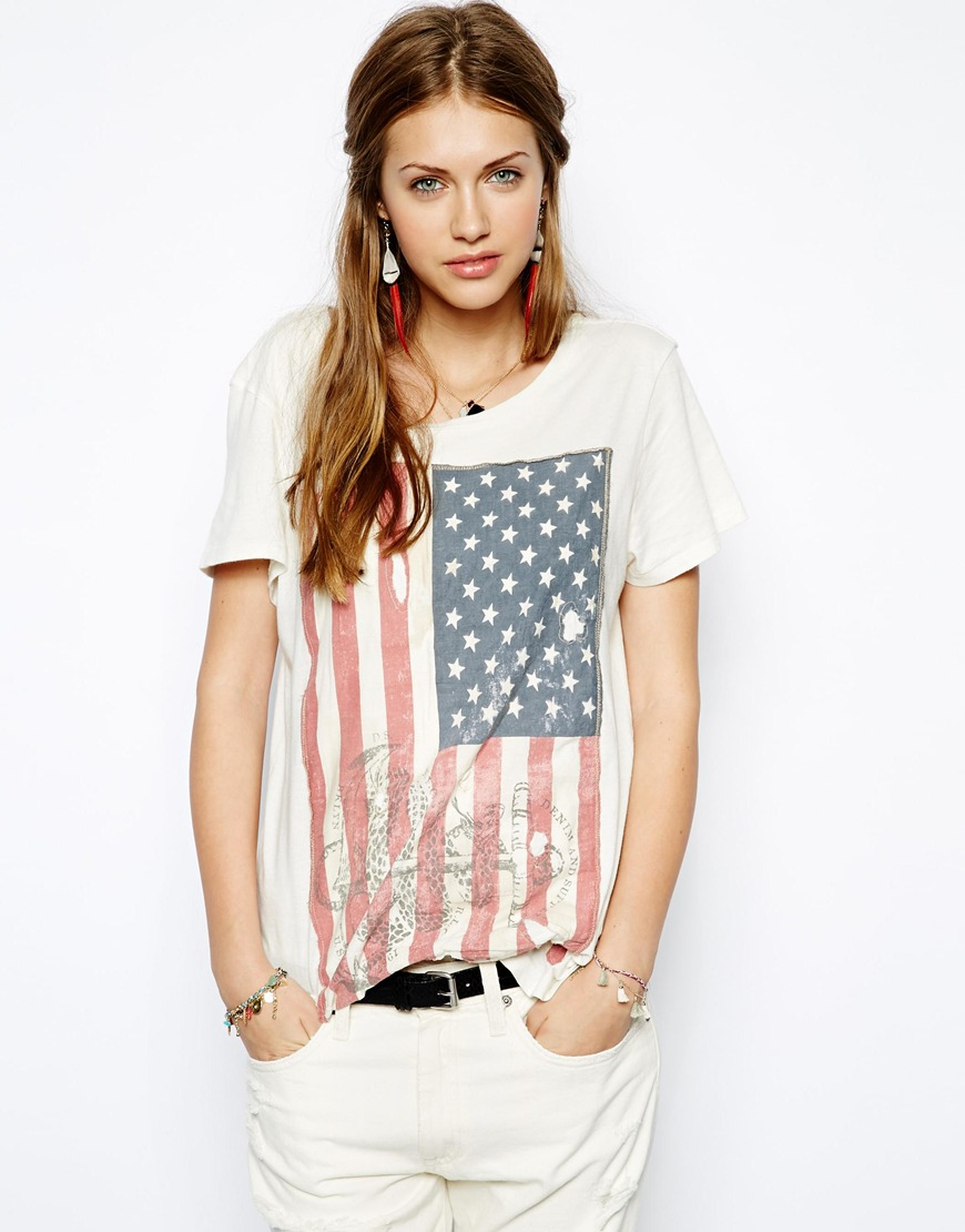 7f8c3ea7f0ada ... czech lyst ralph lauren american flag tshirt in white a532b 678e8 ...