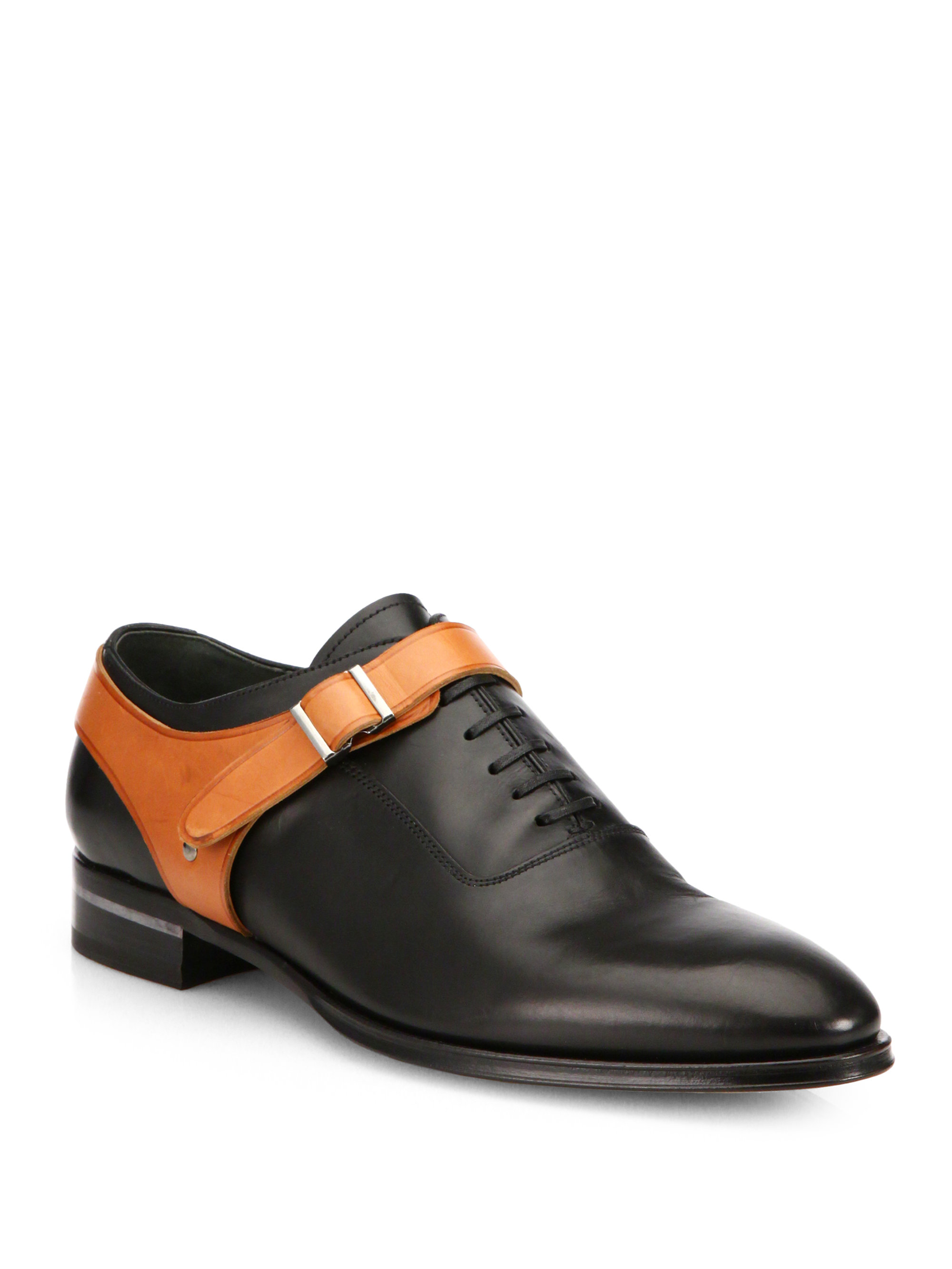Lyst - Alexander McQueen Harness Leather Lace-Up Shoes in Black for Men bfd860ee1f38b