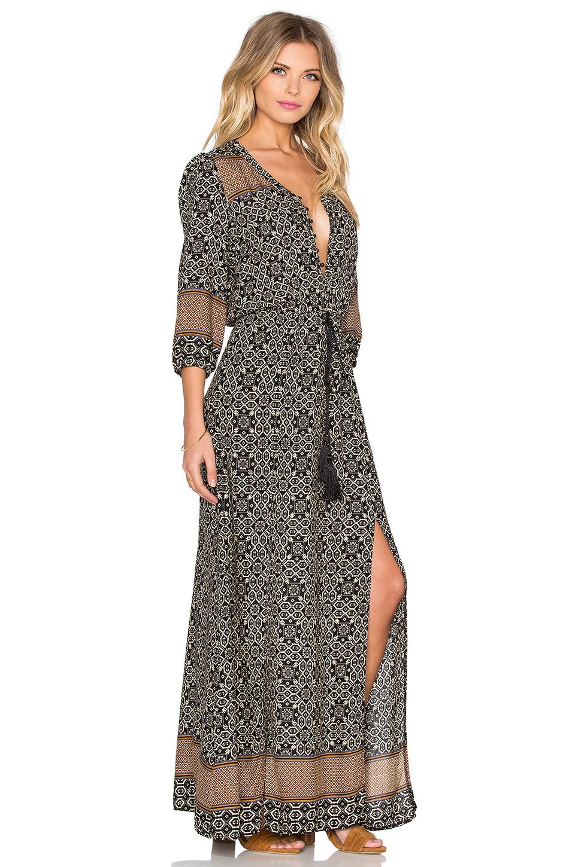 Lyst Wilde Heart Wildflower Maxi Dress In Black