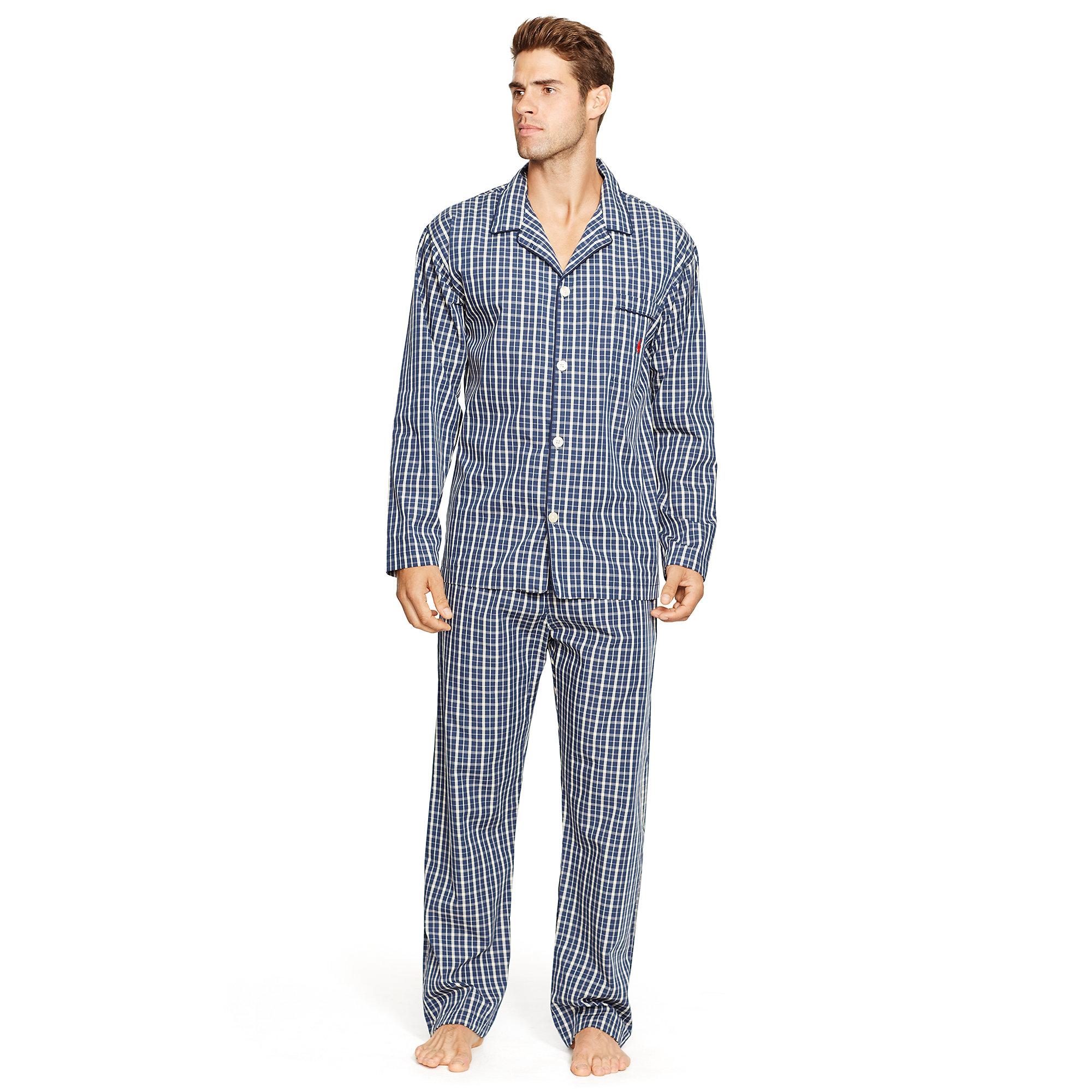55f41bb9d4 Lyst - Polo Ralph Lauren Plaid Cotton Pajama Pant for Men