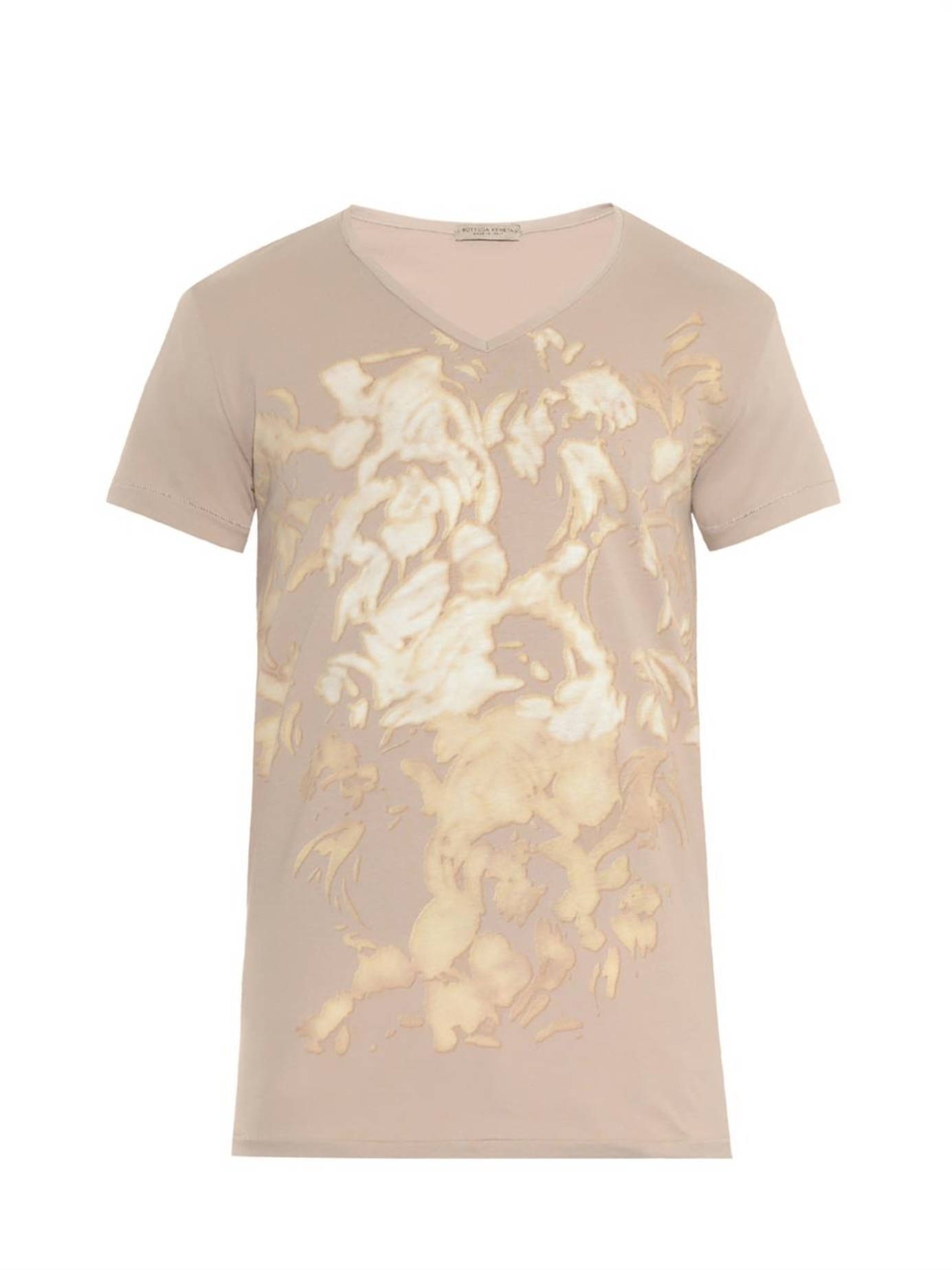 Bottega veneta bleach print cotton jersey t shirt in for Bottega veneta t shirt