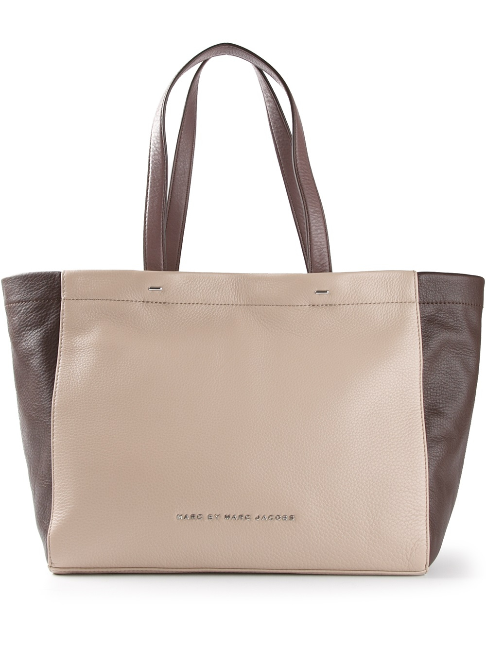 Marc by marc jacobs Whats The T Tote Bag in Natural | Lyst