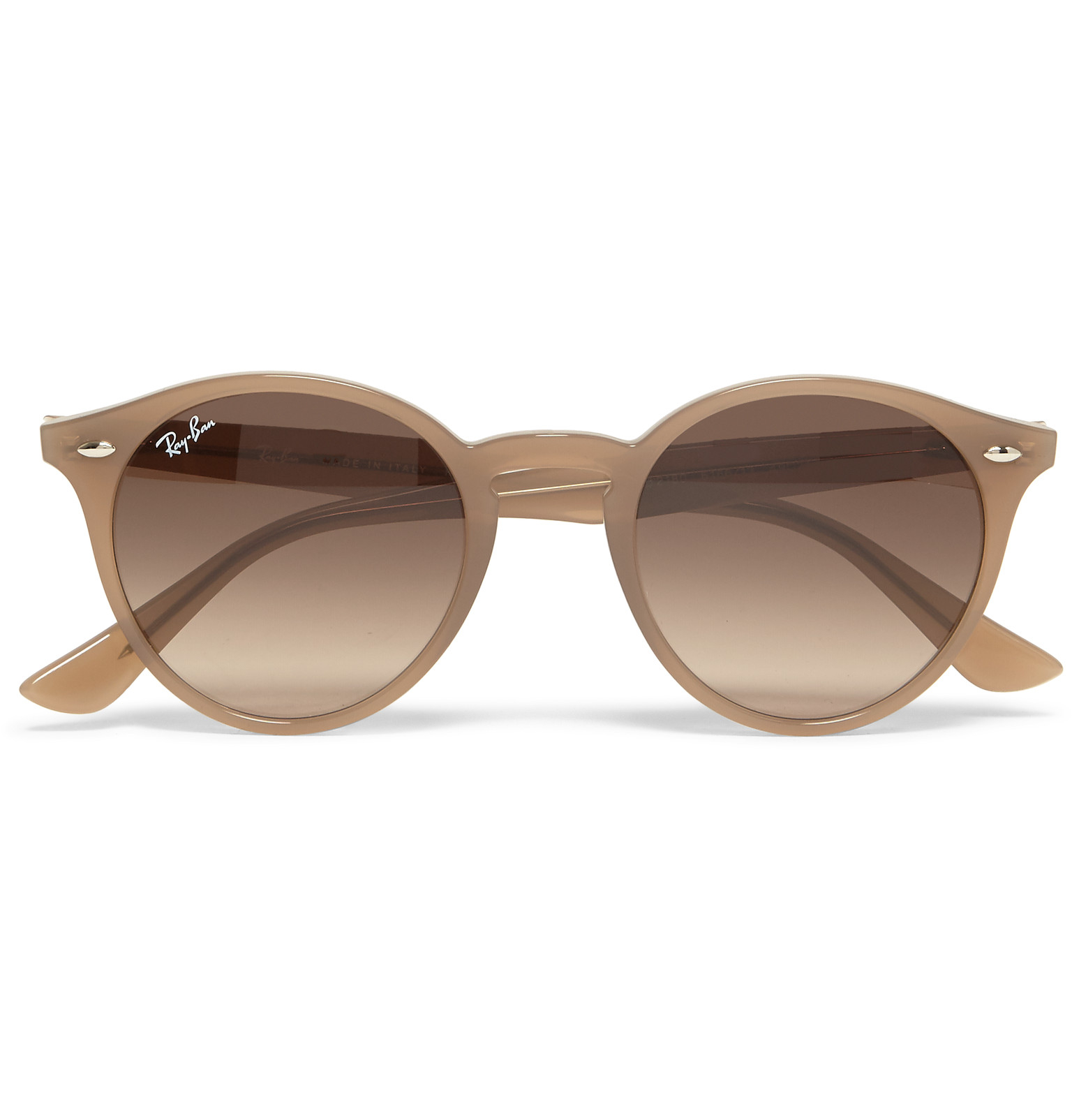 Ray-Ban Round-frame Acetate Sunglasses in Natural for Men - Lyst