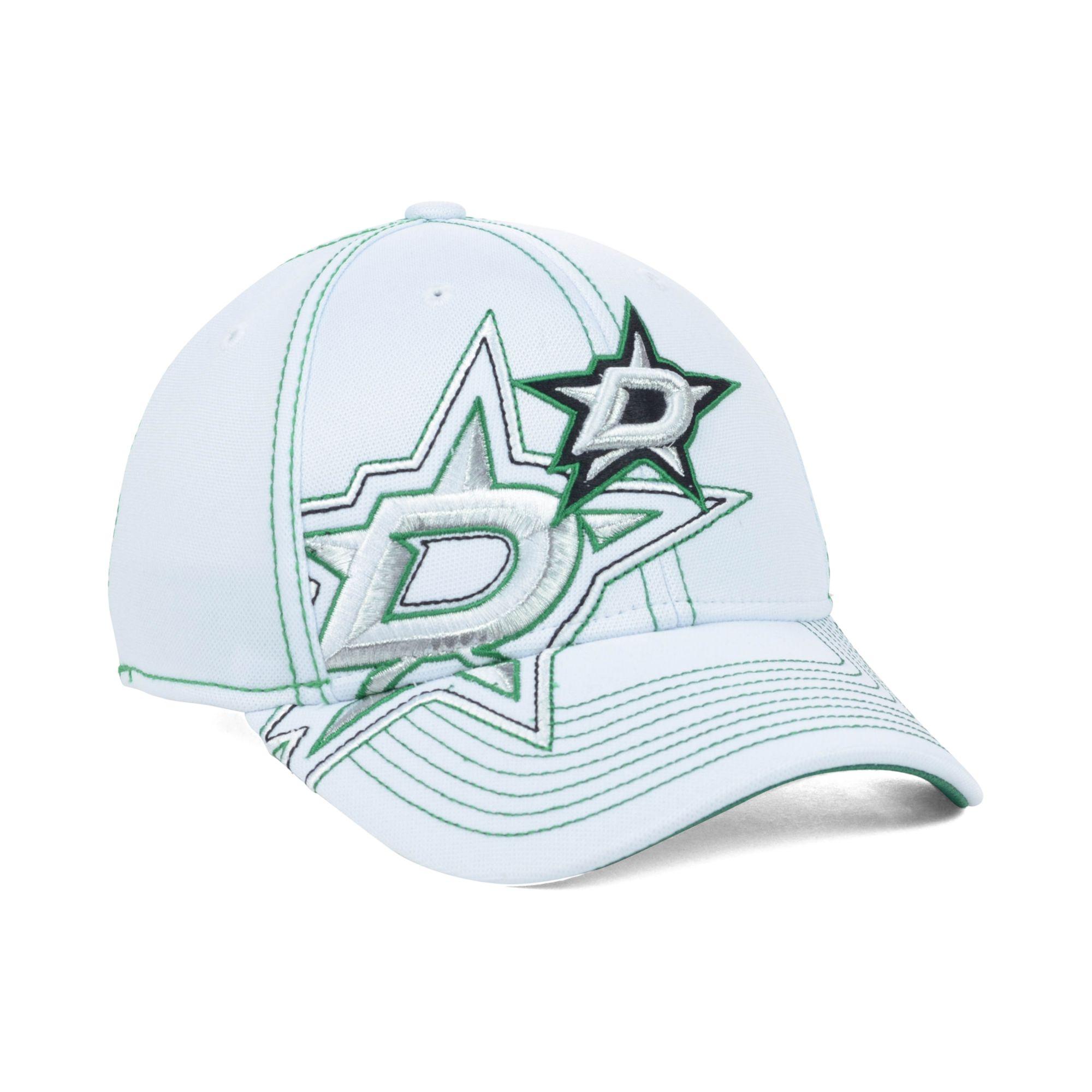the latest 84987 1e724 ... top quality lyst reebok dallas stars nhl 2nd season draft cap in white  for men f6543