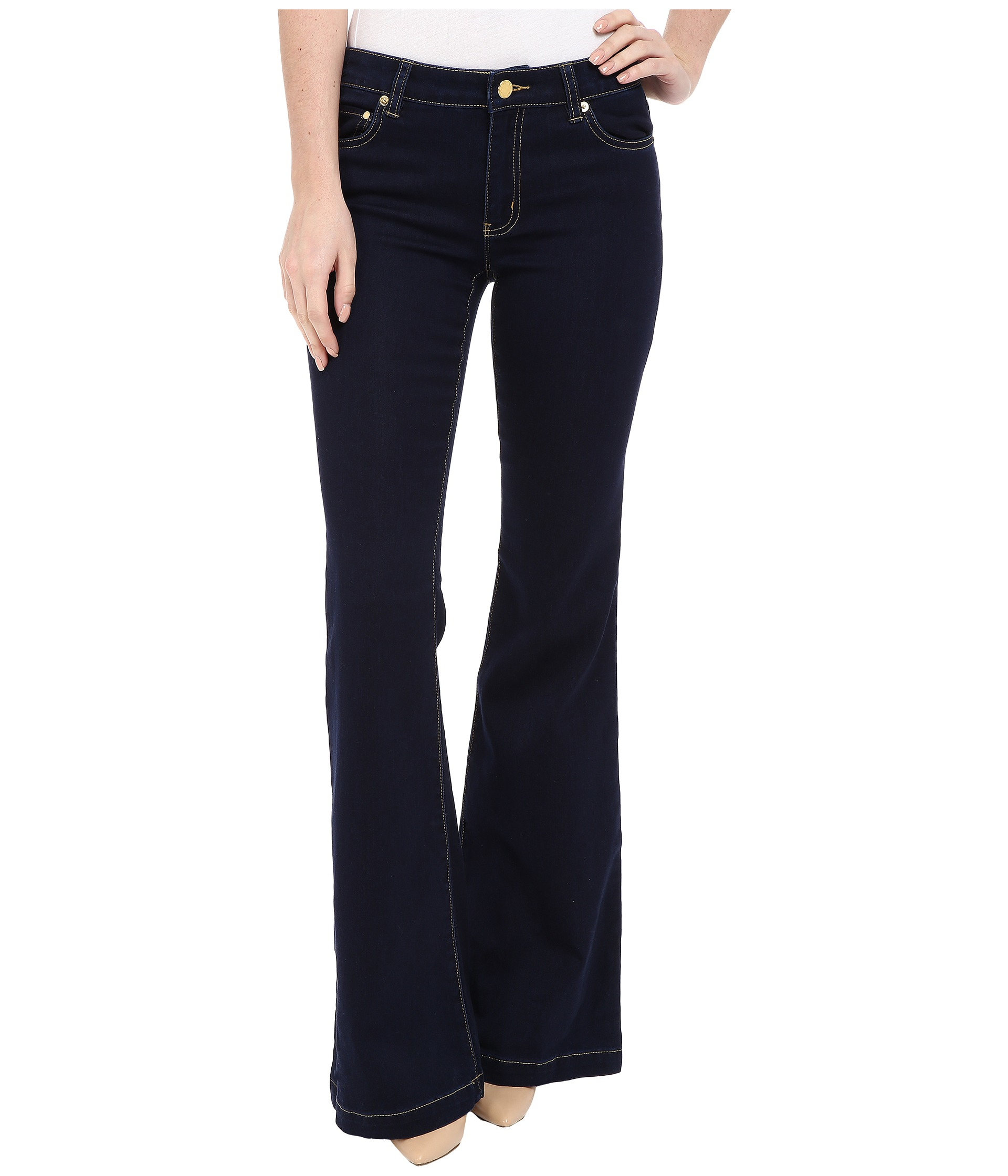 Michael michael kors Denim Retro Flare Jeans In Twilight Wash in ...