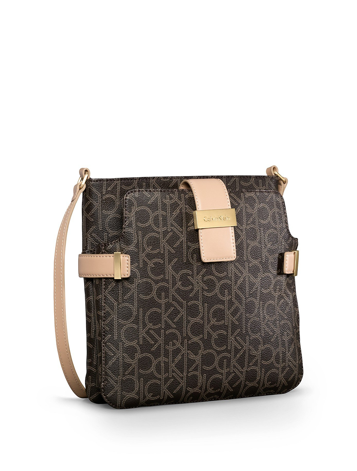a95fdf3e6e Lyst - Calvin Klein Jordan Double Pocket Crossbody Bag in Brown