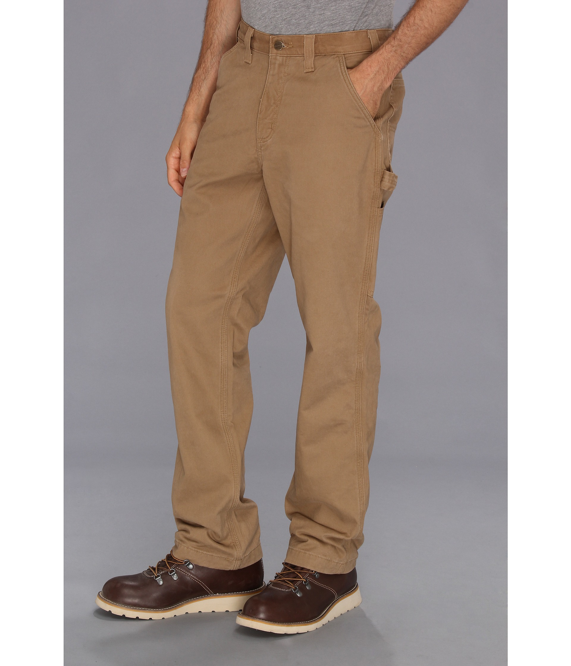 84e95a4ccf Carhartt Washed Twill Dungaree Flannel Lined Pant in Natural for Men - Lyst