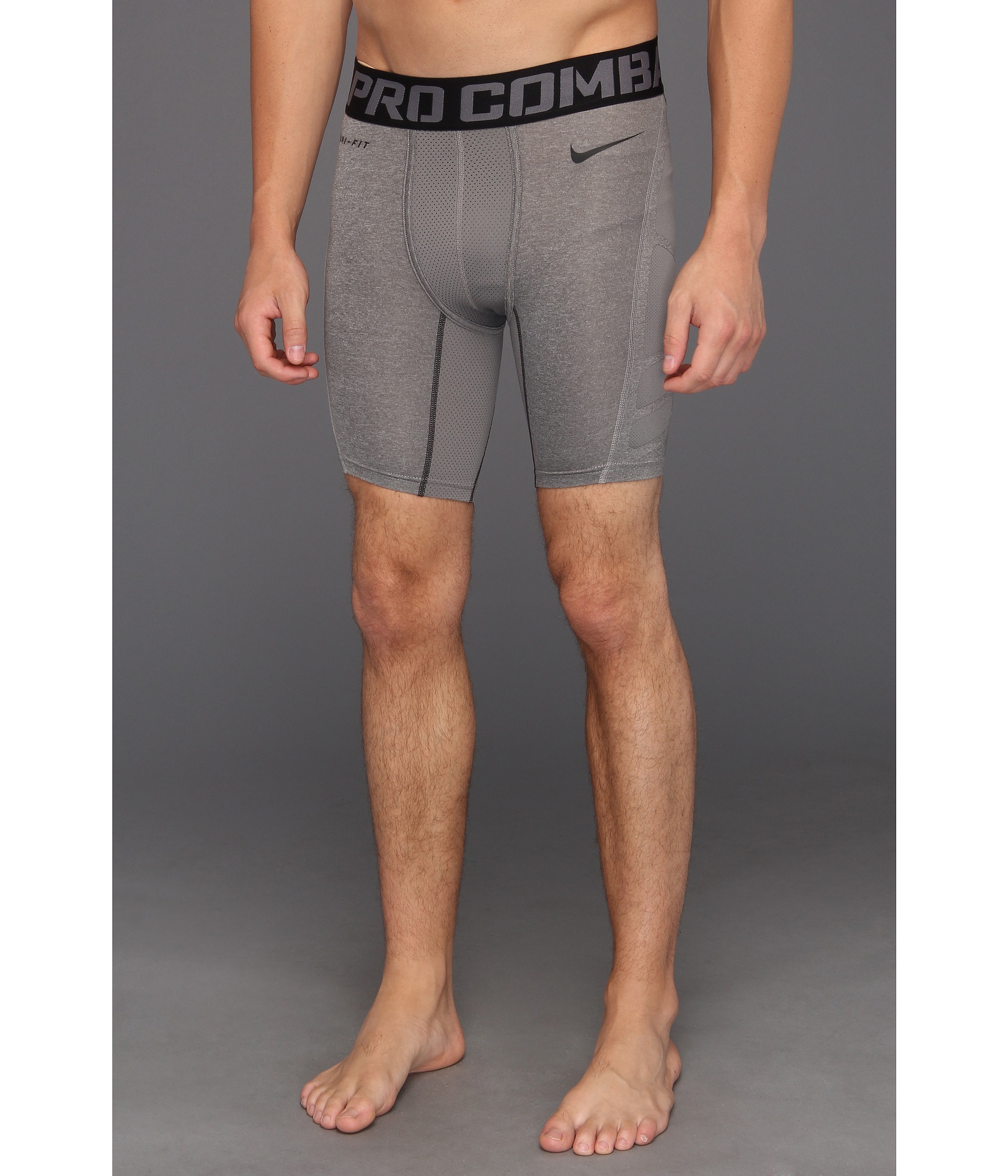 4e6f0bfae6 Nike Pro Combat Hypercool Compression 6-Inch Short 2.0 in Gray for ...