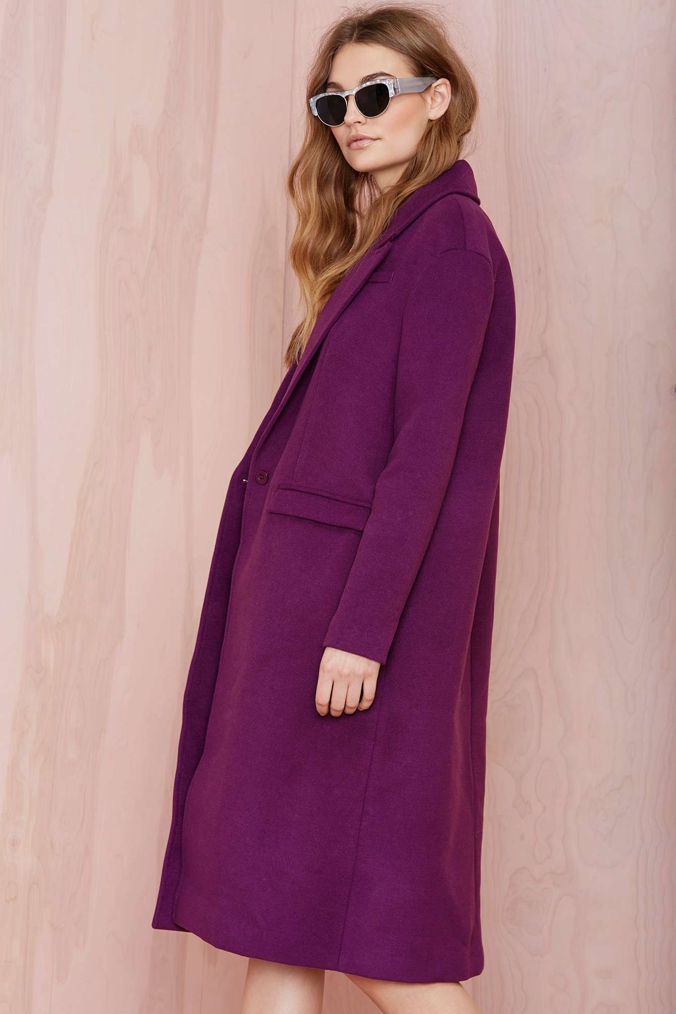 Women's purple wool coats – Jackets photo blog