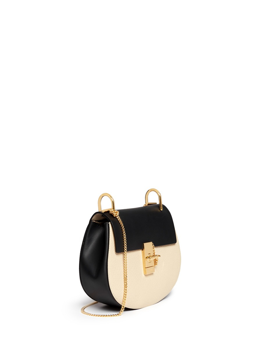 chloe marcie bag knockoff - Chlo�� Drew Small Two-Toned Shoulder Bag in Black (Multi-colour) | Lyst