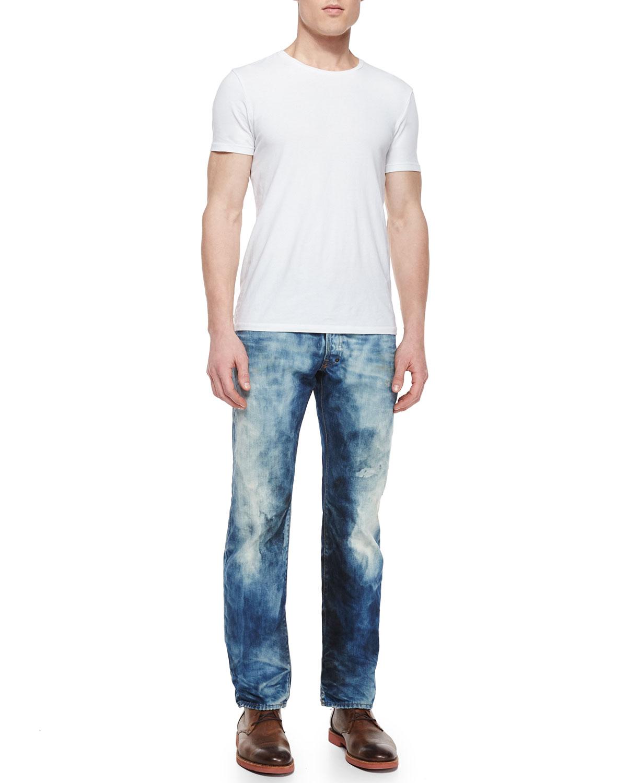 Prps Barracuda Bleached Denim Jeans In Blue For Men