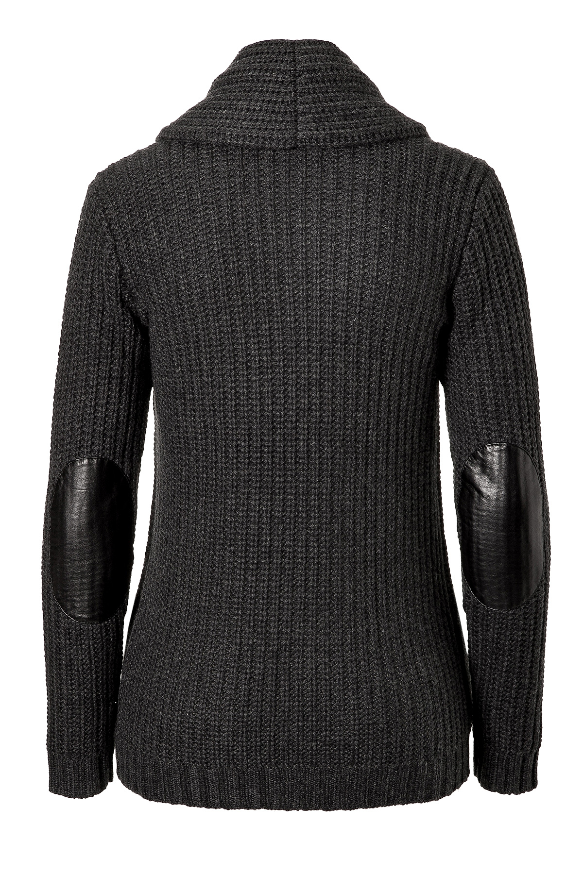 Ralph lauren black label Heavy Knit Cashmere Cardigan With Leather ...