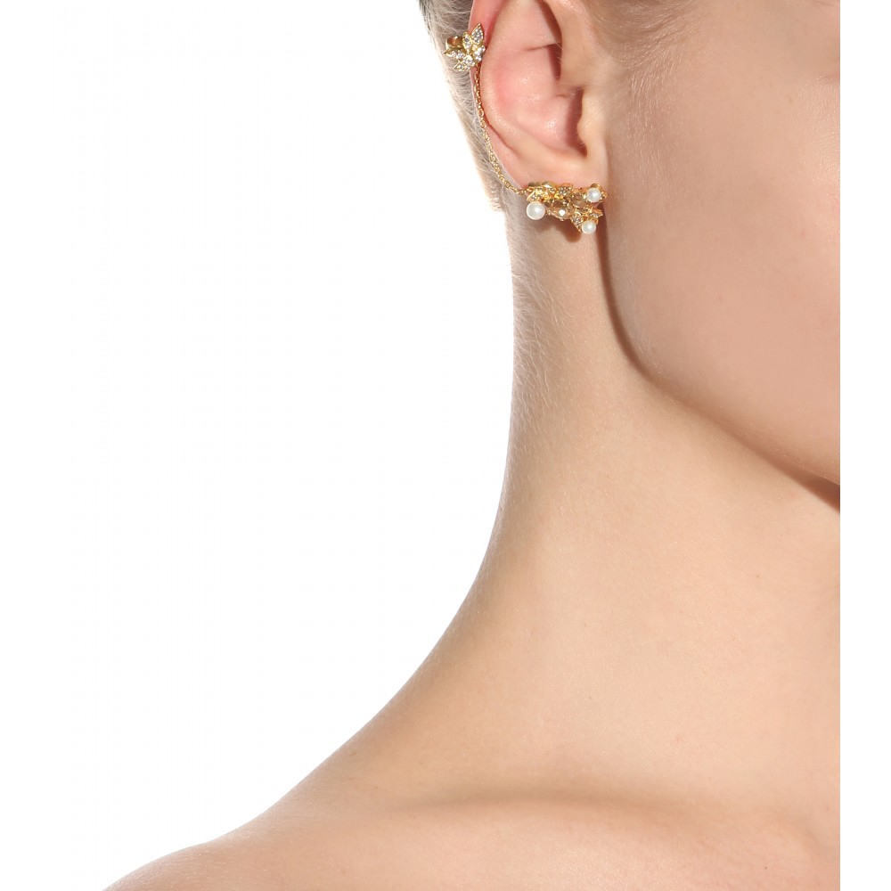 Joanna Laura Constantine Knot and bead ear cuff MuVooR