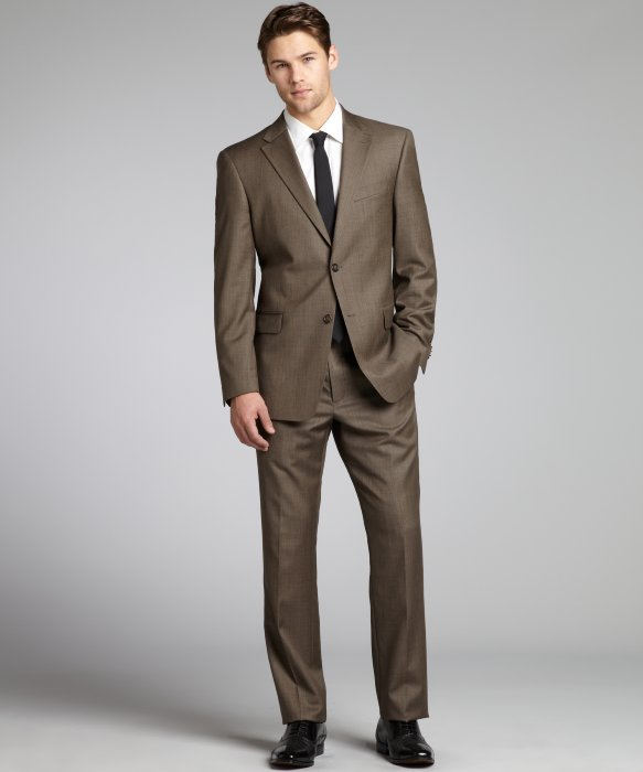 Brown Sharkskin Suit My Dress Tip