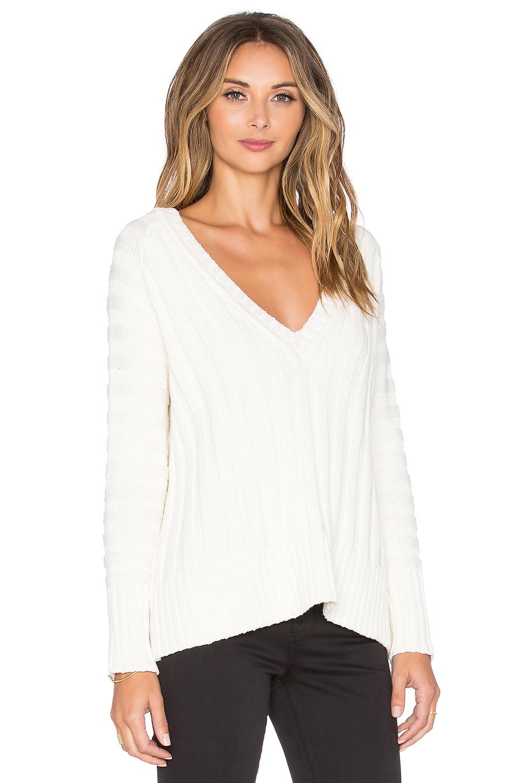 Lyst For Love Amp Lemons Ashley Raglan Sweater In White