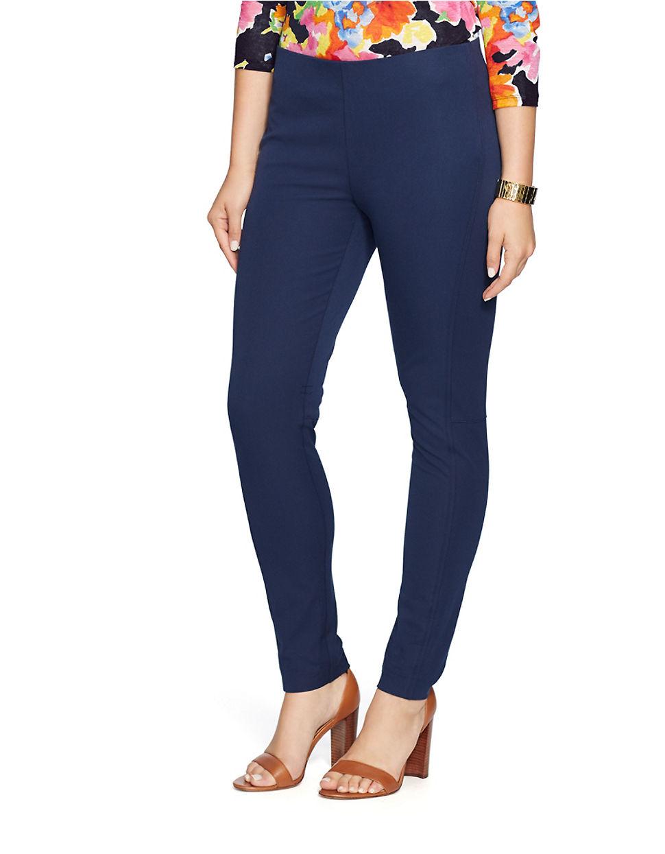 Beautiful Lauren By Ralph Lauren Wide Leg Pants In Blue  Lyst