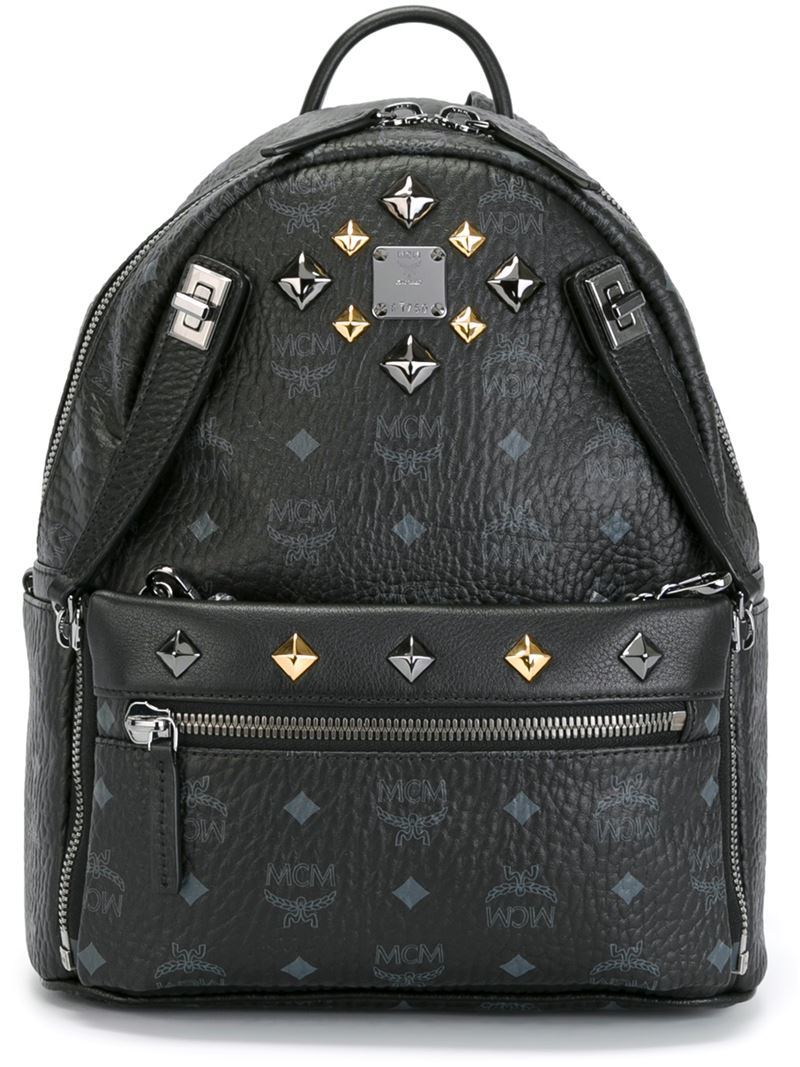 Lyst Mcm Small Dual Stark Backpack In Black