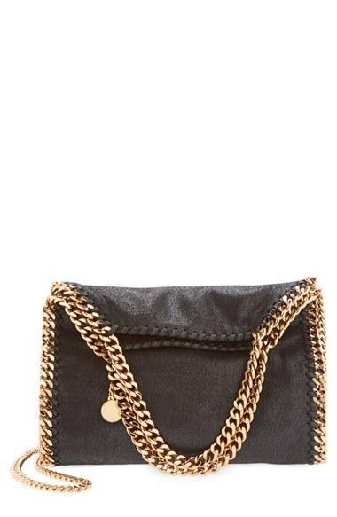 Stella Mccartney Black Falabella Shaggy Deer Mini Bag  e45d385f060c5