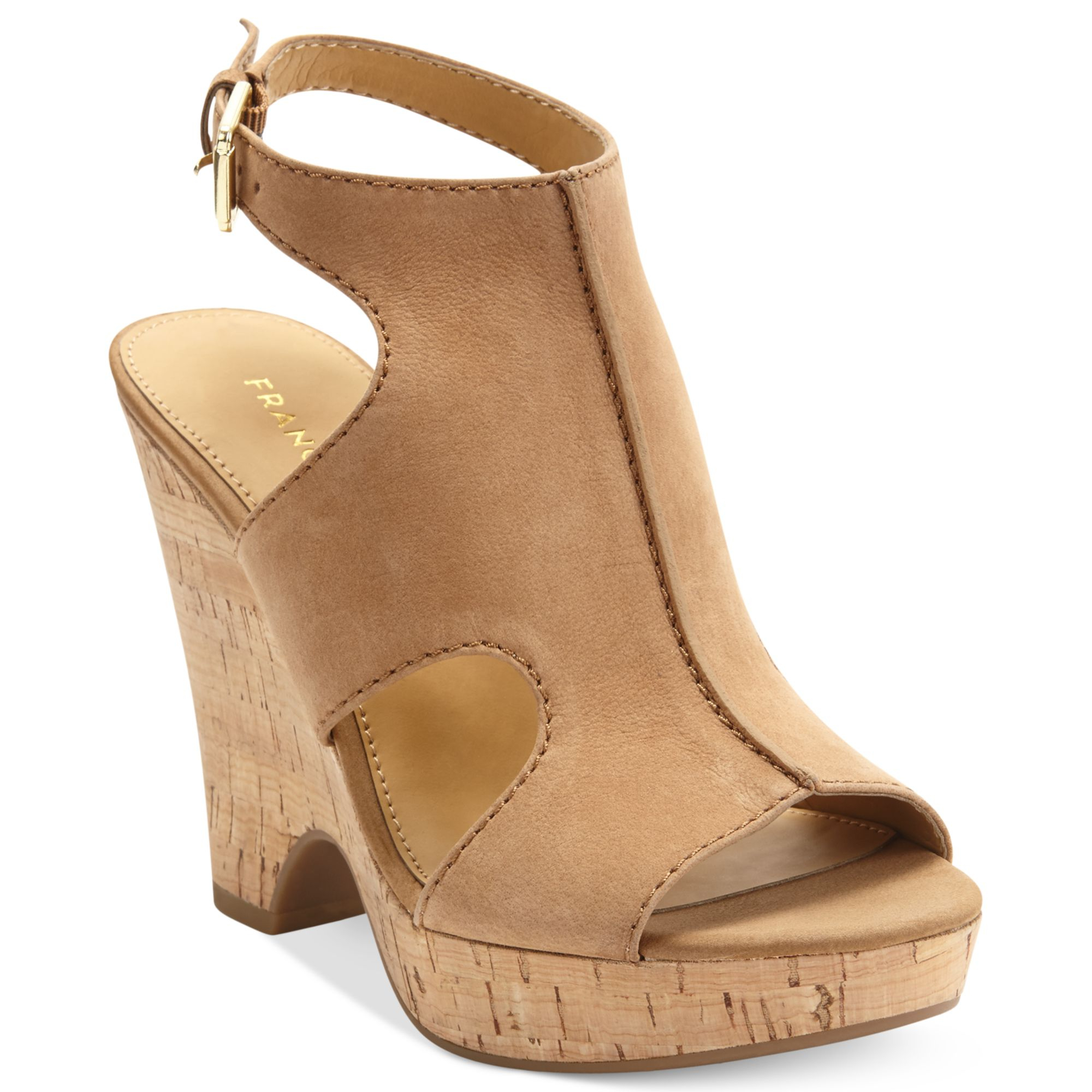Franco Sarto Glamour Platform Wedge Sandals In Natural Lyst