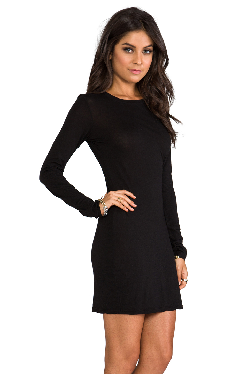 Lyst Daftbird Long Sleeve Mini Dress In Black In Black