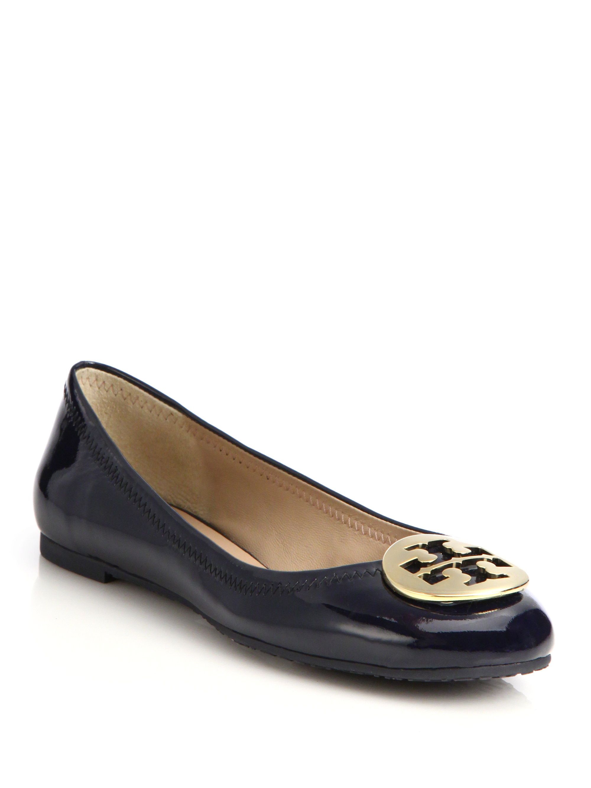 online for sale browse online Tory Burch Patent Leather Reva Flats cheap sale new arrival 3LQqG5fyp1