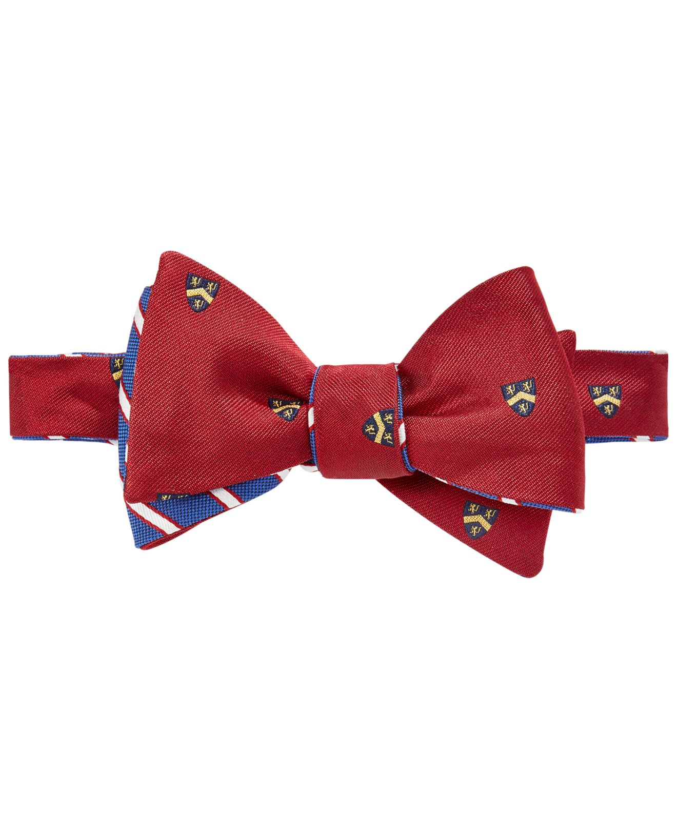 Brooks brothers Reversible Crest To-tie Bow Tie in Red for ...