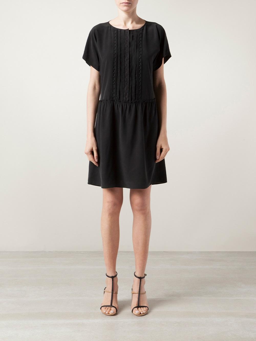 lyst vanessa bruno ath robe dress in black. Black Bedroom Furniture Sets. Home Design Ideas