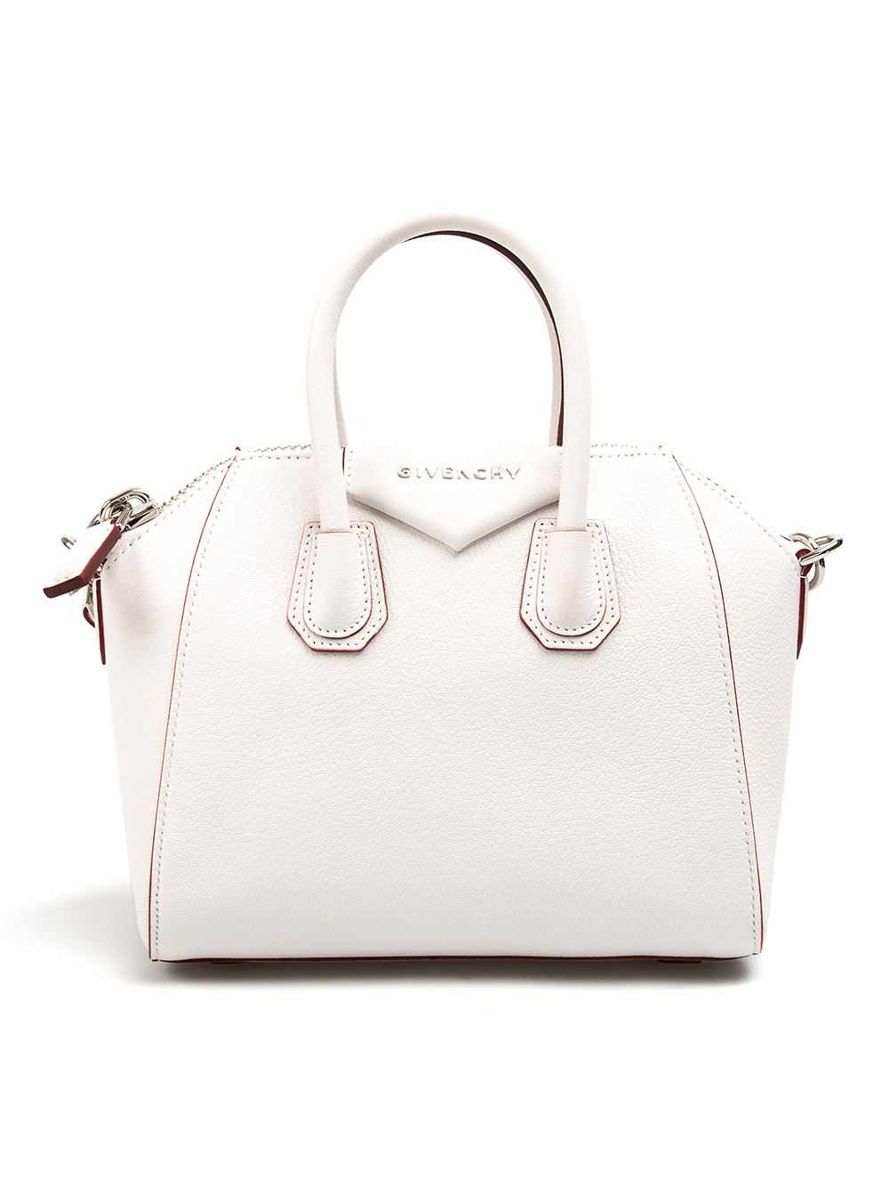 Lyst - Givenchy Antigona Mini Tote in White 95619abe5659f
