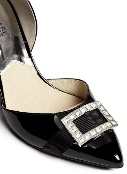 michael kors 39 shirley 39 patent leather pumps in black lyst. Black Bedroom Furniture Sets. Home Design Ideas