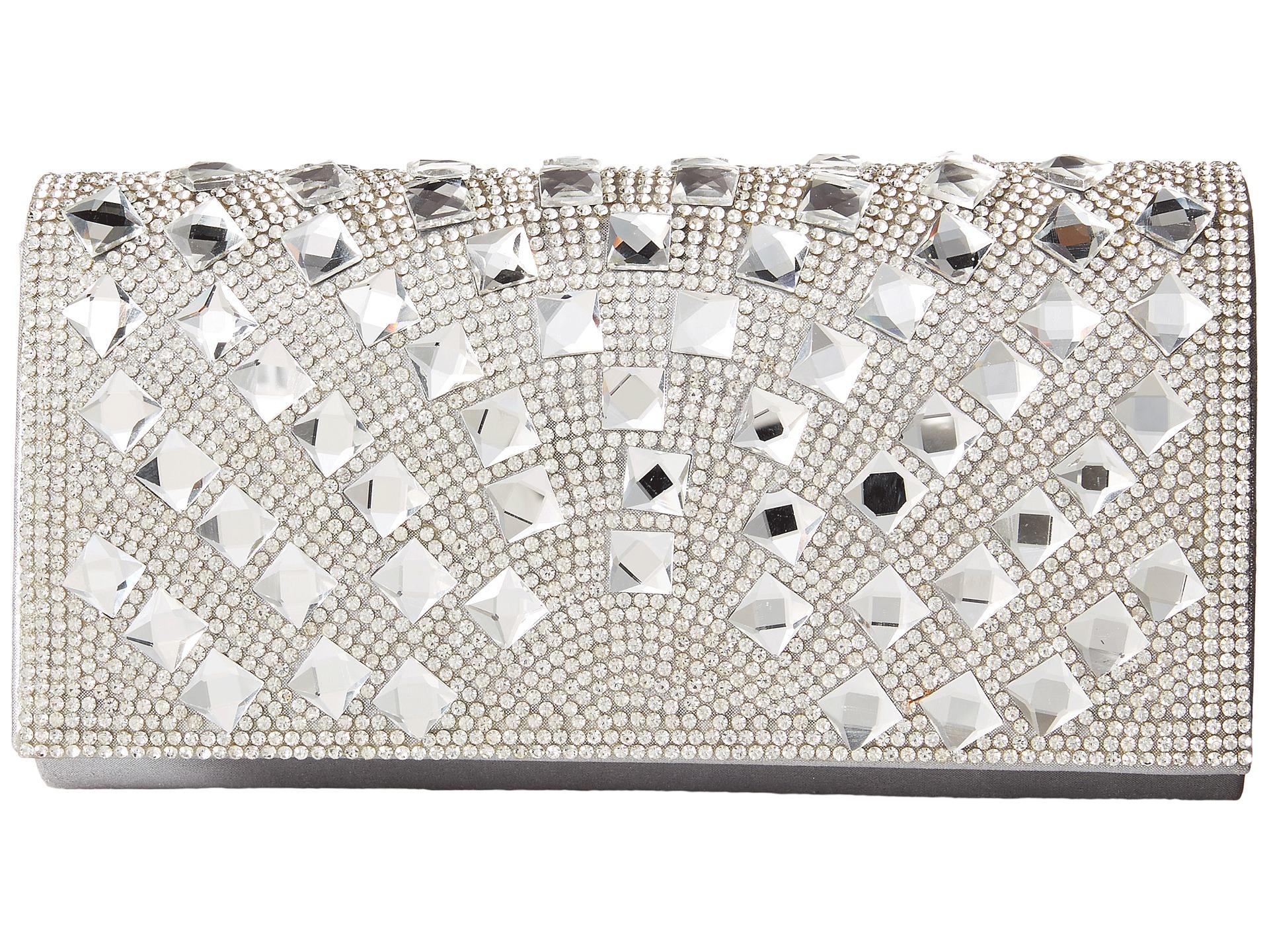 chloe bag - Jessica mcclintock Chloe Fold-over Crystal Clutch in Silver | Lyst