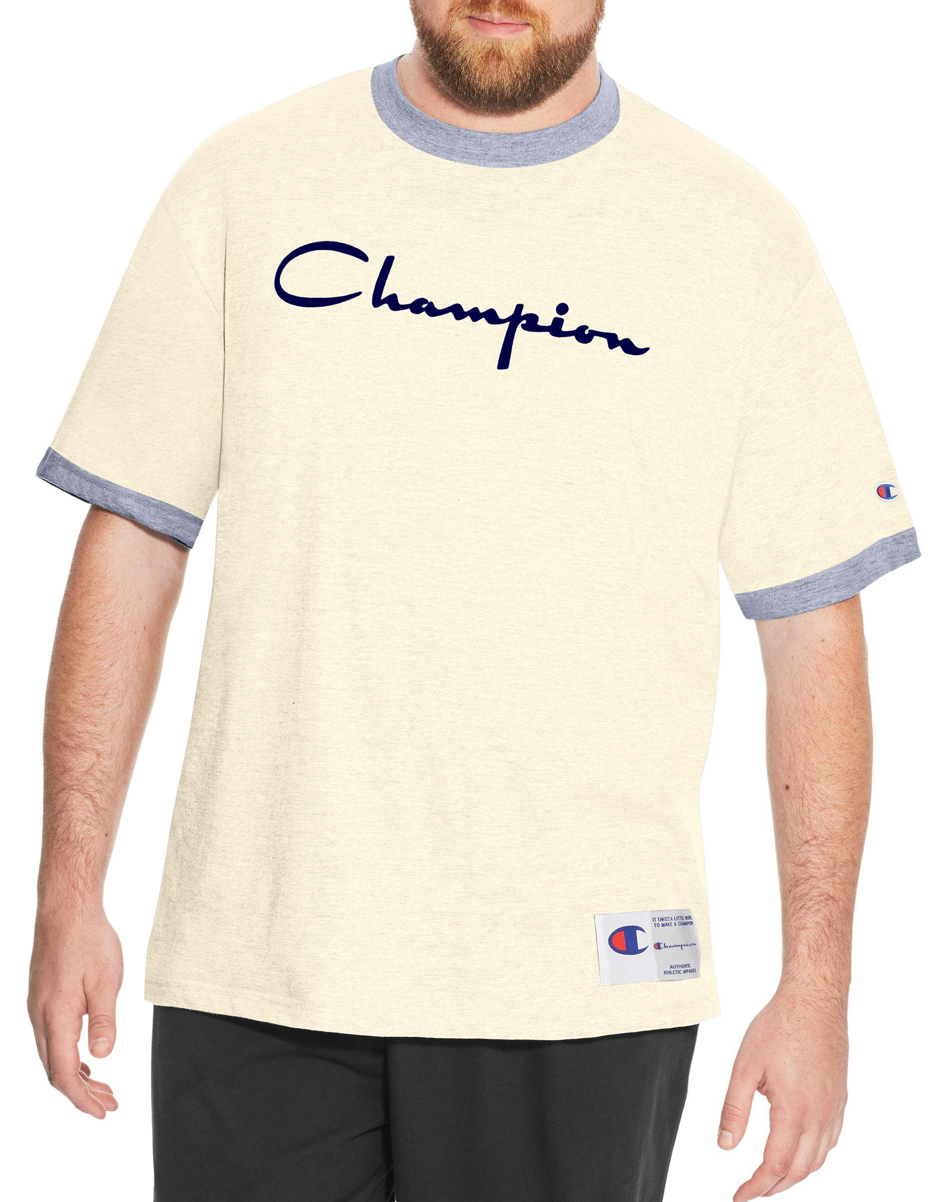a8a9c4b74 Champion - White Heritage Big   Tall Ringer Slub Tee for Men - Lyst. View  fullscreen